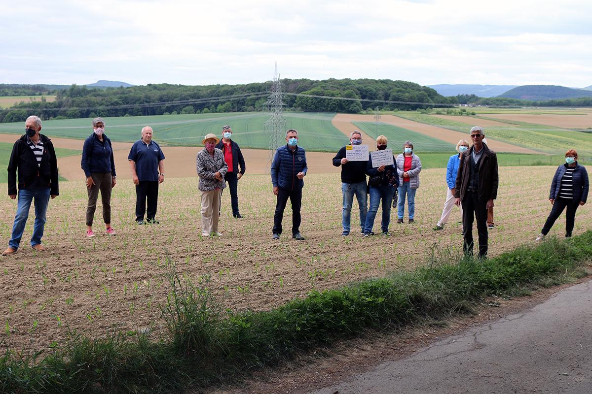 Freie Wäher unterstützen die Franker Bevölkerung im Protest gegen das geplante Ultranet