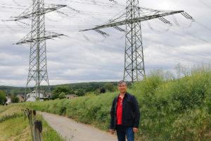 Ortsvorsteher Jügren Koffer initiierte mit den Freien Wählern Protestaktion gegen die geplante Ultranet Stromtrasse in Sinzig Franken