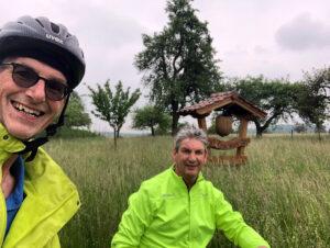 Stadtradeln mit dem zweiten Fraktionssprecher Reiner Friedsam in Franken
